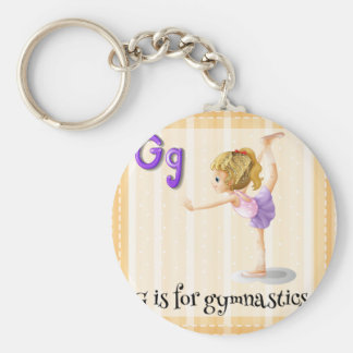 Ein Buchstabe G Standard Runder Schlüsselanhänger