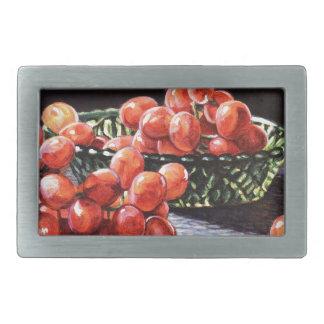 Ein Bündel rote Trauben Rechteckige Gürtelschnalle