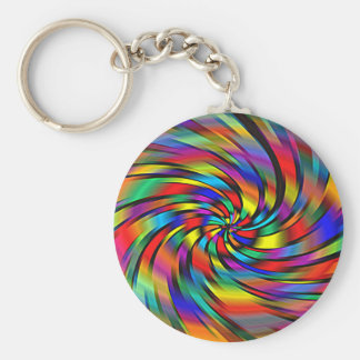 Ein bunter Pinwheel Keychain Schlüsselanhänger