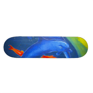Ein bunter WasserSkateboardentwurf 19,1 Cm Old School Skateboard Deck