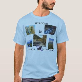 Ein buntes Colorado-Willkommen T-Shirt