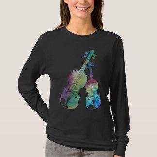 Ein buntes Duo der Violine und der Viola T-Shirt