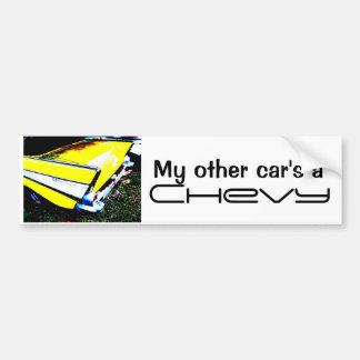 Ein Chevy meines anderen Autos Autoaufkleber