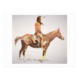 Ein Cheyenne Brave, 1901 (Farbelitho) Postkarte