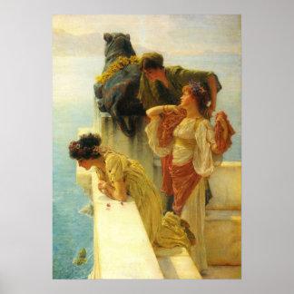 Ein Coign von günstigem durch Alma Tadema Poster