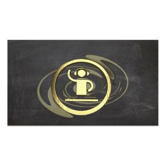 Ein cooles Gold DJ und Visitenkartenvorlage