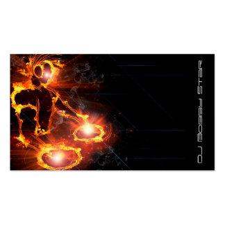 Ein cooles loderndes DJ auf Feuergeschäftskarte Visitenkarten