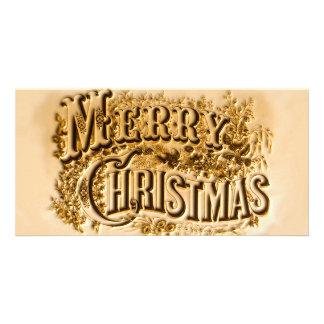 Ein Currier und Ives frohen Weihnachten Karte
