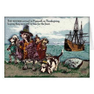 Ein Dachshund Thanksgving Karte