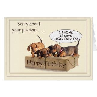 Ein dachsund-Geburtstag Karte