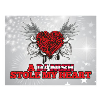 Ein Dänische stahl mein Herz Postkarte
