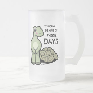 Ein der jene Tagesniedlichen Schildkröte Mattglas Bierglas