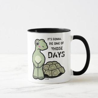 Ein der jene Tagesniedlichen Schildkröte Tasse