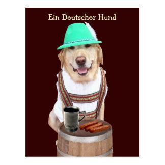 Ein Deutscher Hund Postkarte