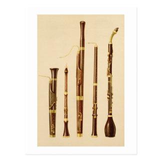 Ein dulcian, ein oboe, ein Bassoon, ein oboe DA Postkarte