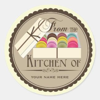 """Ein Dutzend Franzosen Macarons """"von der Küche von  Runde Aufkleber"""