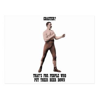 Ein echter übermäßig männlicher Mann Postkarte