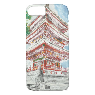 Ein eines netten Shintennouji Tempel iPhone Falles iPhone 8/7 Hülle