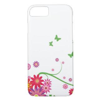 Ein einfaches Blumenmuster iPhone 8/7 Hülle