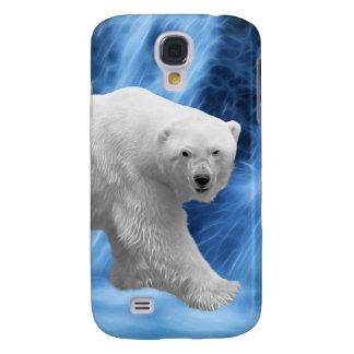 Ein Eisbär am gefrorenen Wasserfall Galaxy S4 Hülle