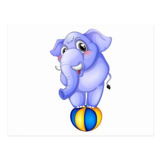 Ein Elefant über dem Aufsetzer Postkarte