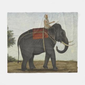 Ein Elefant-Wächter, der seinen Elefanten (1825, Fleecedecke
