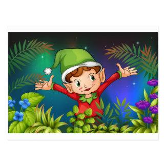 Ein Elf am Garten Postkarten