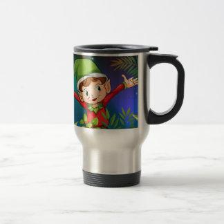 Ein Elf am Garten Reisebecher