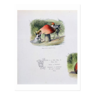 Ein Elf auf der Suche nach einer Fee, Illustration Postkarte