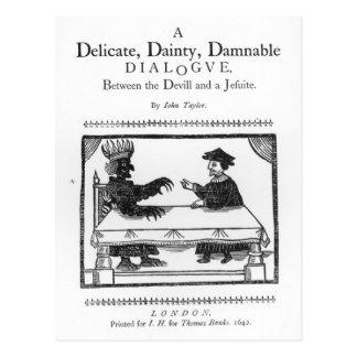 Ein empfindlicher köstlicher Damnable Dialog Postkarte