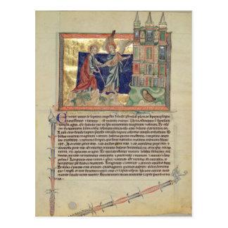 Ein Engel, der das neue Jerusalem zeigt Postkarte