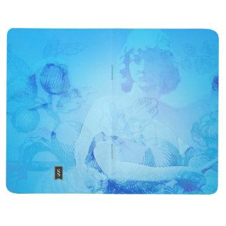 Ein Engel für Ihre Gedankentaschenzeitschrift im Taschennotizbuch