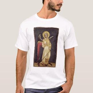 Ein Engel mit einem Dämon auf einer Kette T-Shirt