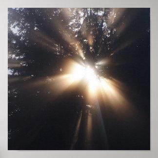 Ein Engel oder ein Gott? Druck Poster