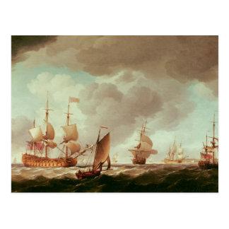Ein englischer Vize-Admiral des Rotes und des sein Postkarte