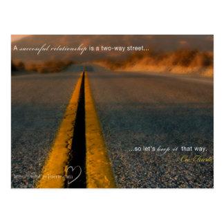 Ein erfolgreiches Verhältnis Postkarte