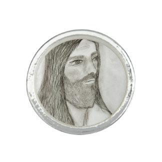 Ein ernster Jesus Foto Ring