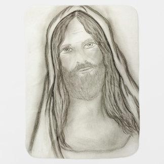 Ein ernster Jesus Kinderwagendecke
