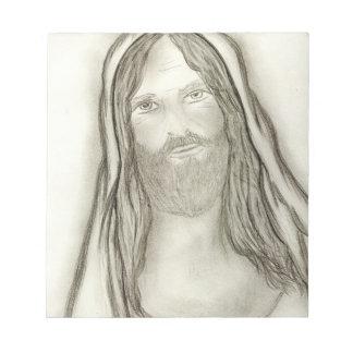 Ein ernster Jesus Notizblock