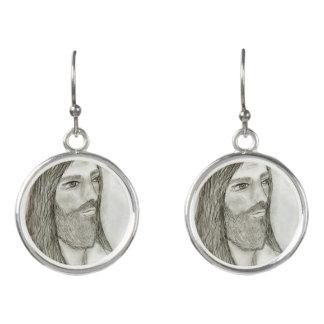 Ein ernster Jesus Ohrringe