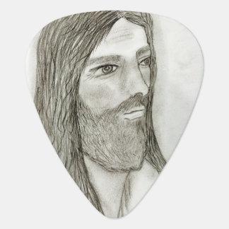 Ein ernster Jesus Plektron