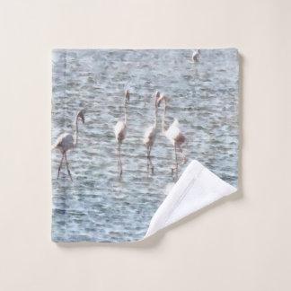 Ein extravagantes Pat der Flamingos Waschlappen