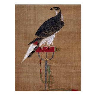 Ein Falke - koreanische Rolle des 16. Jahrhunderts Postkarte