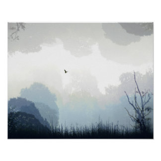 Ein Falke verwirrt Poster