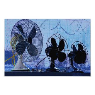 Ein Fan von Blauem und von Purpurrotem Foto Drucke