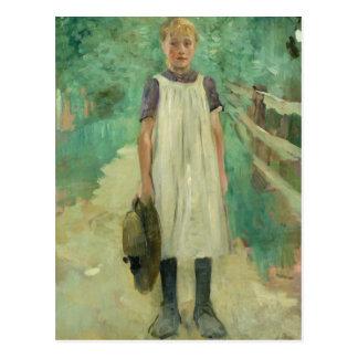 Ein Farmgirl, 1895 Postkarte