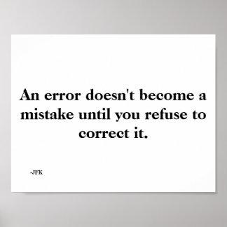 Ein Fehler Poster