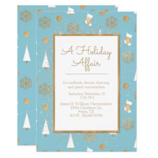 Ein Feiertags-Angelegenheits-Blau und eine 12,7 X 17,8 Cm Einladungskarte