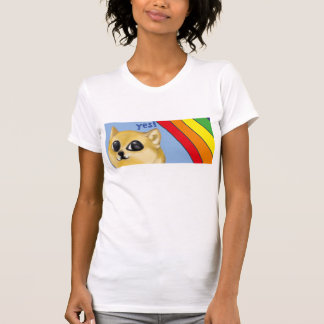 Ein feiner Regenbogen Doge T-Shirt