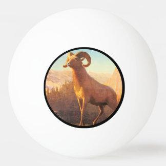 Ein felsiger Gebirgsschaf durch A. Bierstadt Tischtennis Ball